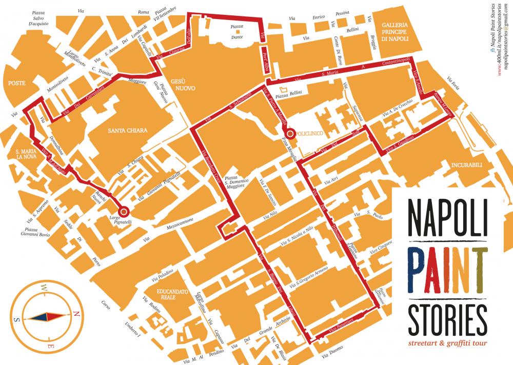 Cartina Napoli Centro Storico.Intervista Napoli Paint Stories Viaggio Inedito Nel Centro
