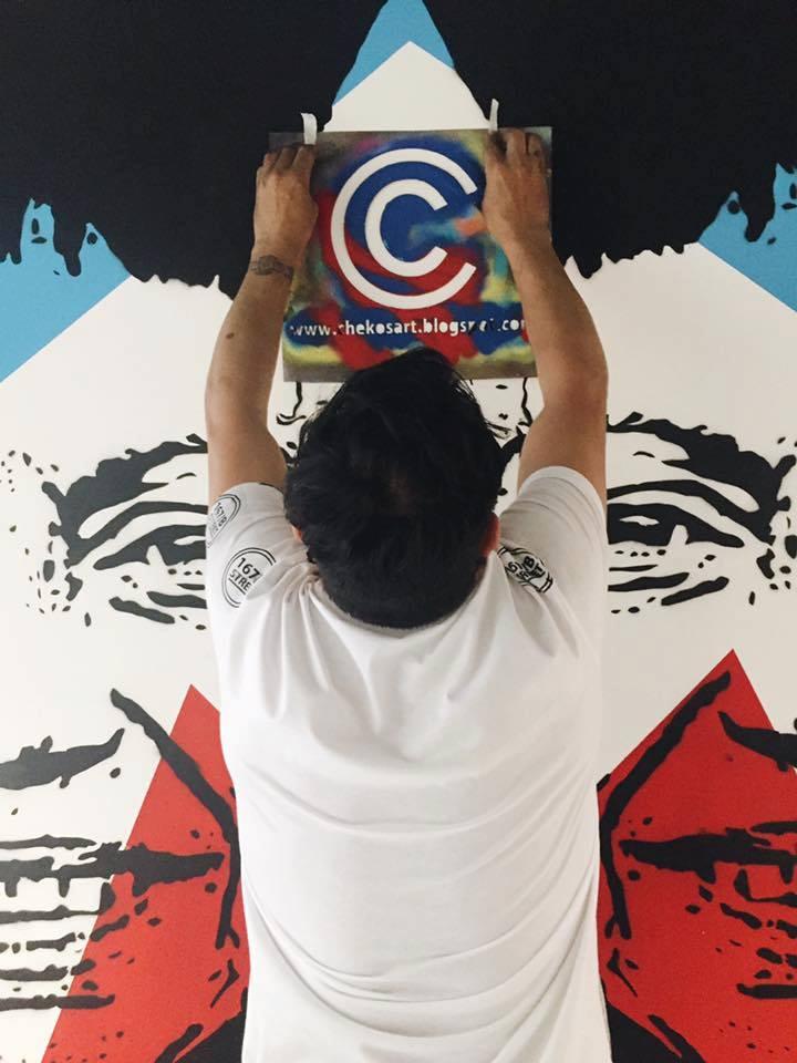 chekos Wall painting dedicato a Gloria Anzaldua a bari