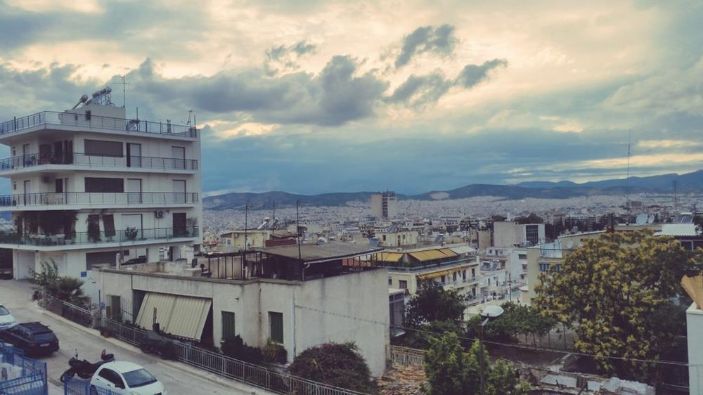 Stefri hill in Exarchia, Athens