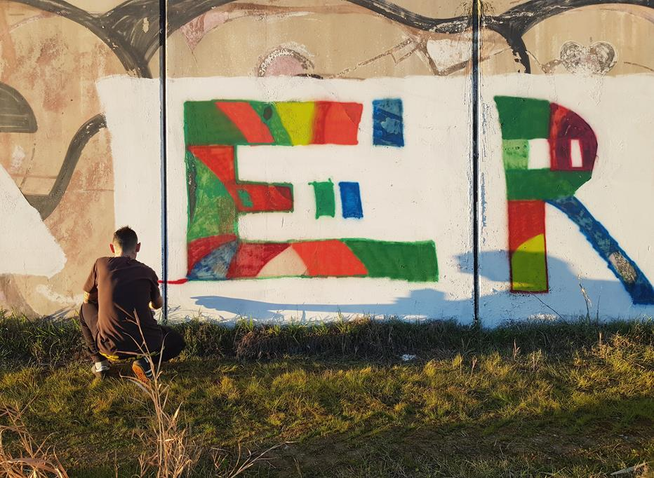 Graffiti in campagna (Toscana): Ero